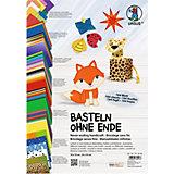 Bastelpapierkoffer Basteln ohne Ende, über 150 Teile