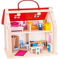 Кукольный дом (с ручкой) , 24 предм., goki