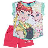 DISNEY DIE EISKÖNIGIN Set T-Shirt + kurze Hose für Mädchen
