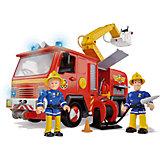 Feuerwehrmann Sam - Feuerwehrwagen Deluxe Jupiter mit 2 Figuren