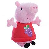 """Мягкая игрушка """"Пеппа с виноградом"""", 20 см, Свинка Пеппа"""