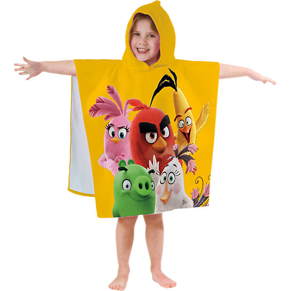 Kinder- Badeponcho Angry Birds Together, 60 x 60 cm