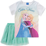 DISNEY DIE EISKÖNIGIN Kinder Set T-Shirt + Rock