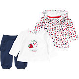 Baby Set Sweatjacke, Langarmshirt + Hose für Mädchen