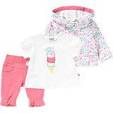 Baby Set Sweatjacke, T-Shirt + Hose für Mädchen