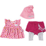 BABY born® Fashion Kollektion Rosa Kleid, pinke Shorts mit Leggings