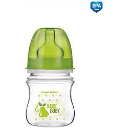 Антиколиковая бутылочка коллекция Фрукты, 120 мл, Canpol Babies, зеленый