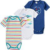 ABSORBA Baby Bodys 3er-Pack für Jungen
