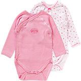 PETIT BATEAU Baby Wickelbodys Doppelpack für Mädchen
