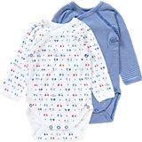PETIT BATEAU Baby Wickelbodys Doppelpack für Jungen