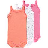 PETIT BATEAU Baby Bodys 3er-Pack für Mädchen