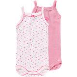PETIT BATEAU Baby Bodys Doppelpack für Mädchen