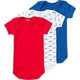 PETIT BATEAU Baby Bodys 3er-Pack für Jungen