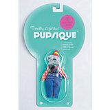 """Одежда для мини-куклы """"Коричневый костюм и наушники"""", PUPSIQUE"""