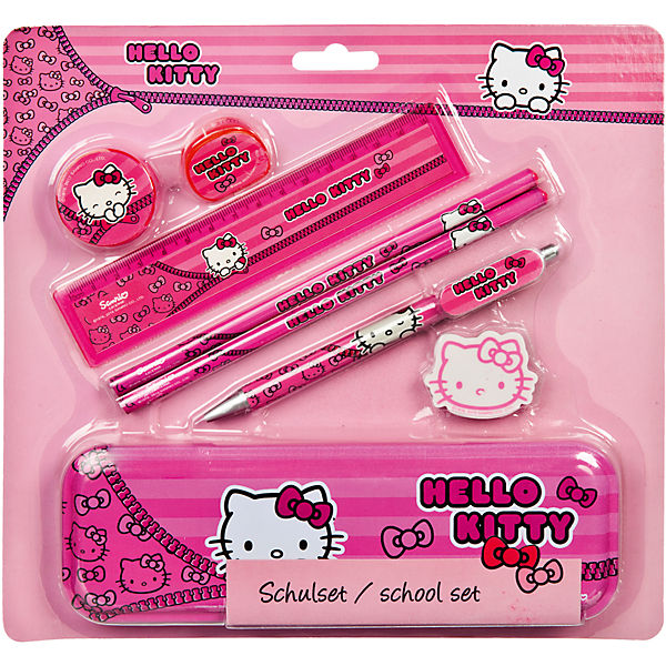 Schulset Hello Kitty, 8-tlg.