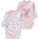ABSORBA Baby Wickelbody Doppelpack für Mädchen