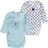 ABSORBA Baby Wickelbody Doppelpack für Jungen
