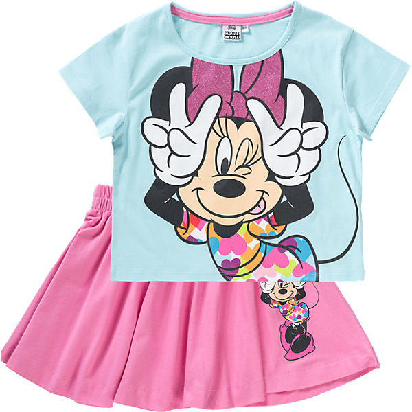 DISNEY MINNIE MOUSE Kinder Set T-Shirt + Rock