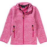 Strickfleece-Jacke für Mädchen