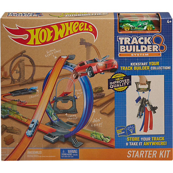 hot wheels track builder starter set hot wheels mytoys. Black Bedroom Furniture Sets. Home Design Ideas