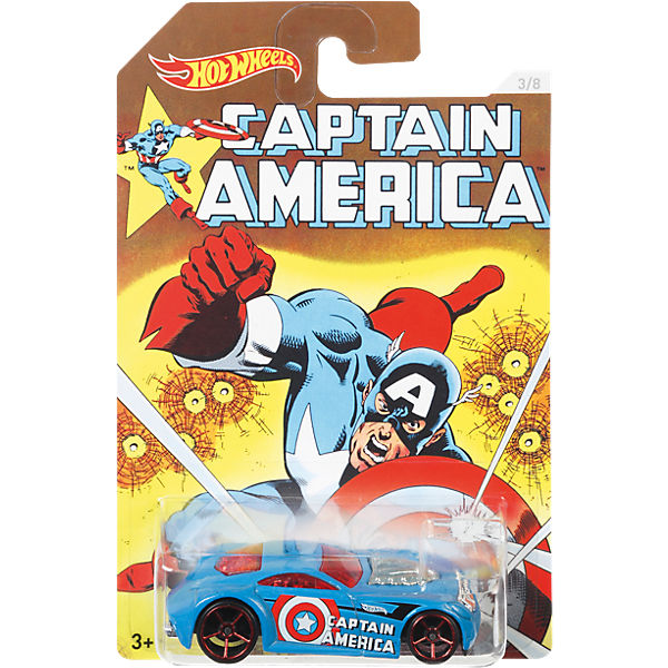 Hot Wheels Captain America 3 Die-Cast Sortiment (rollierend)