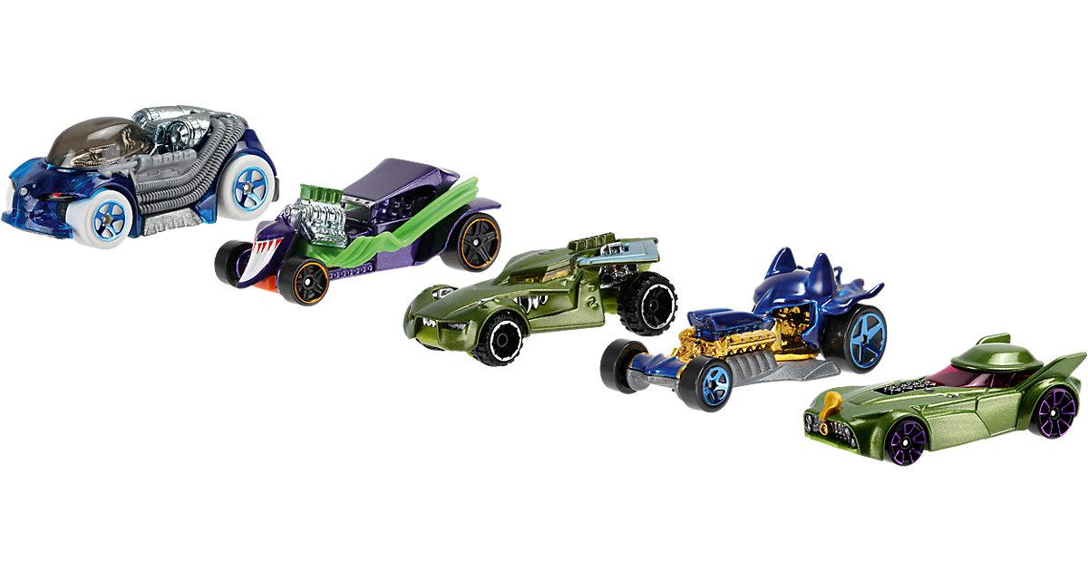 Hot Wheels DC Comics Batman & die Schurken Character Car 5er-Pack