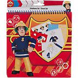 Schablonenset groß Feuerwehrmann Sam, 32-tlg.