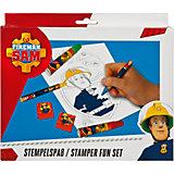 Kreativset Stempelspaß Feuerwehrmann Sam, 27-tlg.