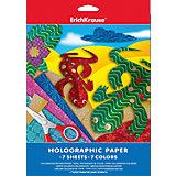 Голографическая бумага А4 (7 листов, 7 цветов)