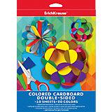 Двусторонний цветной картон А4 (10 листов, 20 цветов)