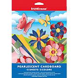 Перламутровый картон А4 (5 листов, 5 цветов)