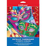 Металлизированный картон А4 (5 листов, 5 цветов)