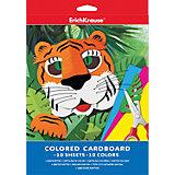 Цветной картон А4 (10 листов, 10 цветов)