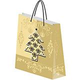 """Подарочный пакет """"Новогодний"""" 20*27*9,8 см с 3D-эффектом"""