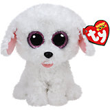 "Мягкая игрушка ""Щенок (белый) Pippie , 15 см"", Beanie Boo's, Ty"