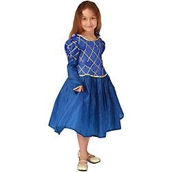 """Карнавальный костюм для девочки """"Принцесса"""" (синий цвет), Вестифика"""