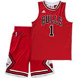Basketball-Set: Shirt und Shorts Chicago Bulls für Jungen