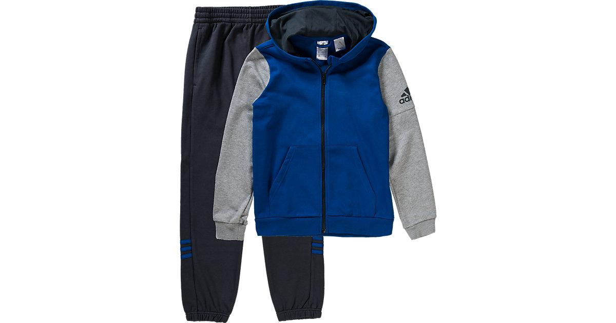 Jogginganzug blau/grau Gr. 140 Jungen Kinder