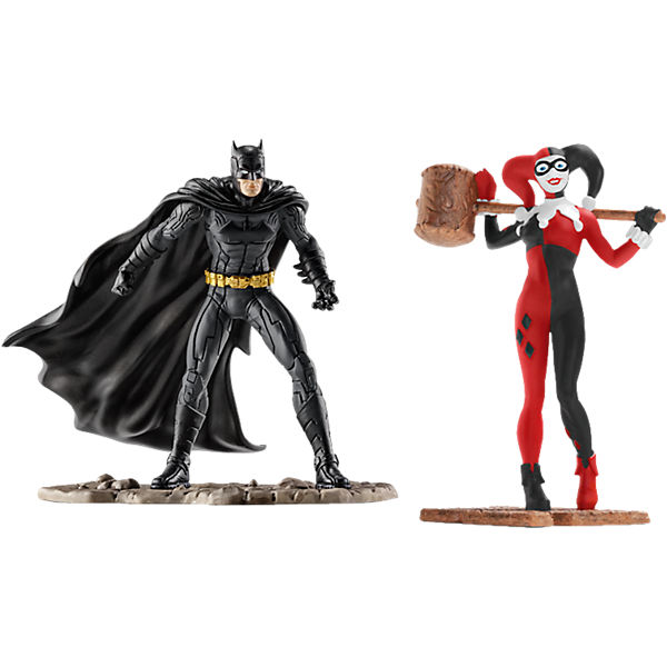 Schleich 22514 Justice League: Scenery Pack Batman vs. Harley Quinn