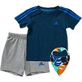 Baby Set: T-Shirts + Shorts + Halstuch für Jungen