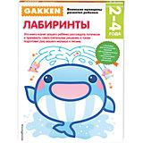 """Развивающая книга """"Лабиринты"""" (2+) GAKKEN"""