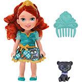"""Кукла  """"Малышка с питомцем: Мерида"""", 15 см, Disney Princess"""