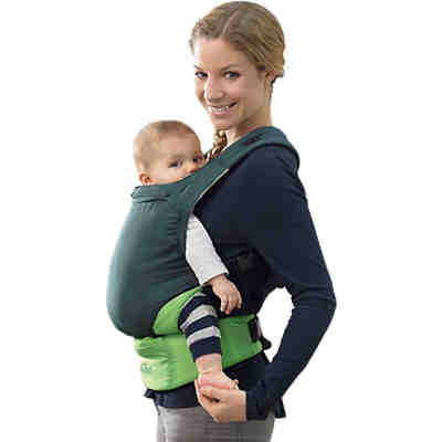 Babytrage Smart Carrier Ultra-Light, green + Regenschutz