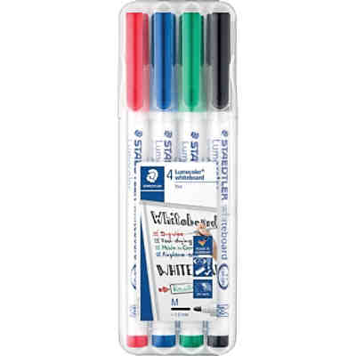 Lumocolor Whiteboard Marker 1-2 mm, 4 Farben