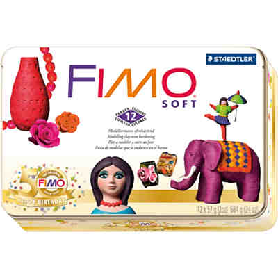 FIMO soft Limited Edition Retro Design, 12 x 57 g in Metallbox