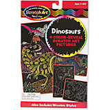Scrach art Динозавры