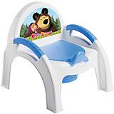 """Горшок-стульчик """"Маша и Медведь"""", Пластишка, голубой"""