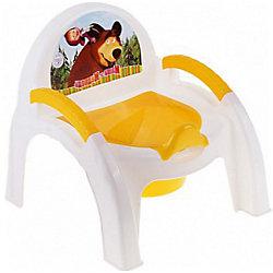 "Горшок-стульчик ""Маша и Медведь"", Пластишка, желтый"