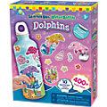 Kreativset Trinkflasche zum Verzieren, Dolphins