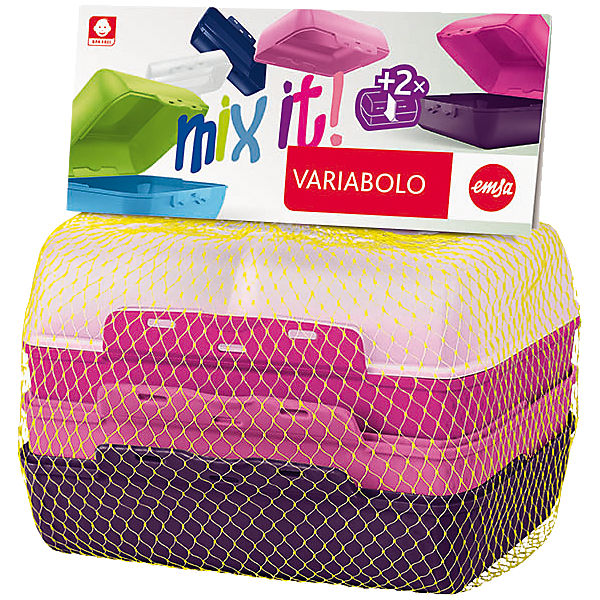 Brotdose Variabolo Girls-Set, 4-Halbschalen
